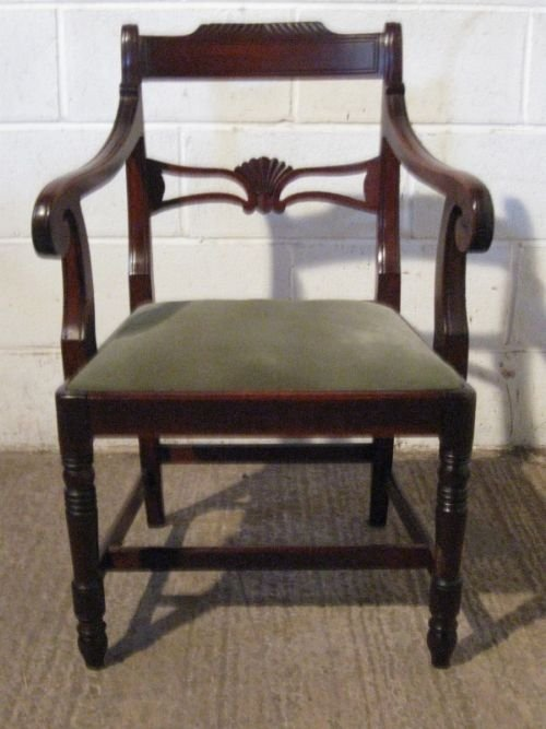 antique regency mahogany side hall or desk chair c1800