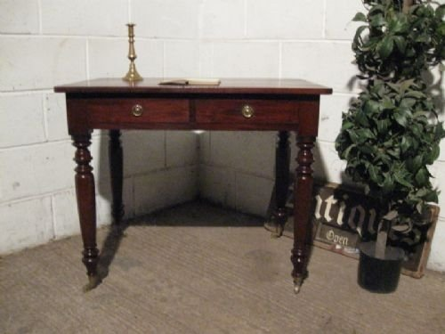 antique victorian mahogany side table writing desk c1880 wdb110211