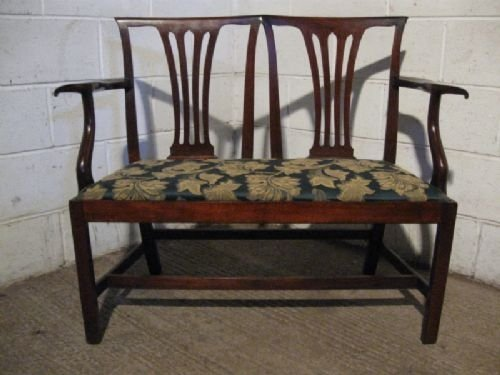 superb antique georgian mahogany sofa with two chair back c1780 wdb1701911