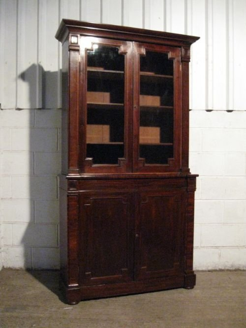 antique william 1v mahogany library bookcase c1820 wdb35043