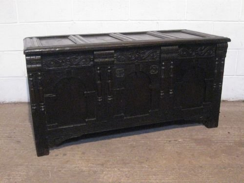 antique james 11 country oak coffer chest c1680 wdb180226