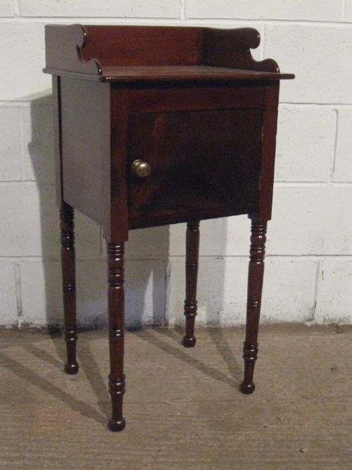 antique regency mahogany pot cupboard bedside table c1800 wdb7567