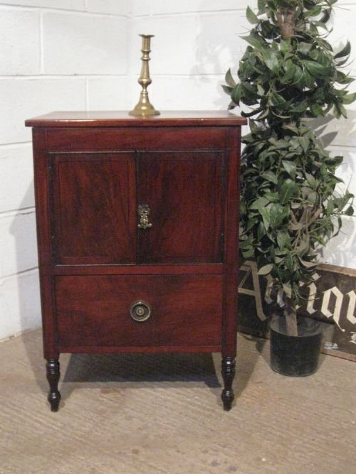 lovely antique regency mahogany small cabinet pot cupboard c1800 wdb488567