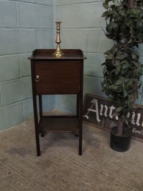 antique regency mahogany pot cupboard bedside cabinet c1800 wm6229251