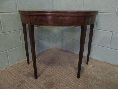 antique regency mahogany demi lune fold over table c1800 wdb6222251