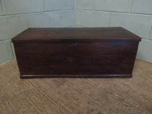 antique georgian country elm small box chest c1780 625372