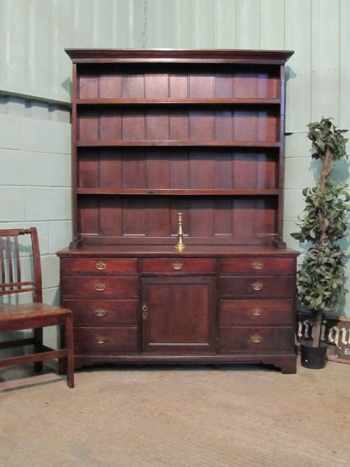 antique georgian oak dresser sideboard c1780 w630073