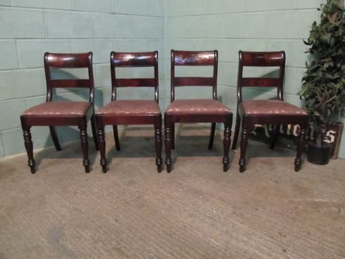 antique set four william 1v cuban mahogany dining chairs c1830 w630273