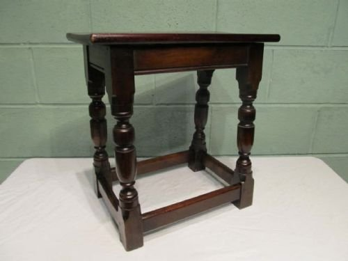 antique victorian country oak joint stool c1880 w635744