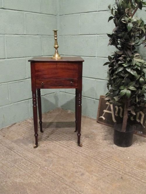 antique regency mahogany workbox side table c1800 w653318