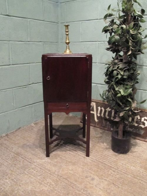 antique georgian mahogany bedside cabinet cupboard c1780 w66221710