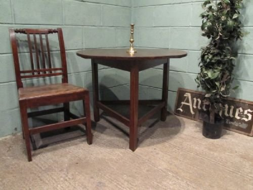 antique fruitwood country joined cricket table c1820 w66291710