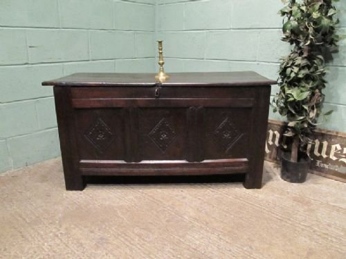 antique james 11 carved oak coffer chest c1680 w66311710