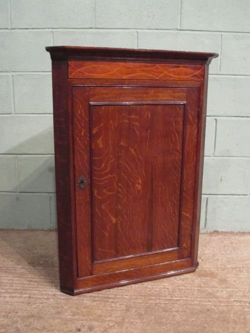 antique georgian oak mahogany corner cupboard c1780 w6750161