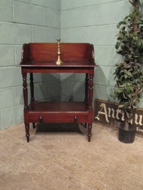 antique victorian mahogany washstand c1860 w6730272