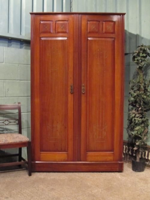 antique edwardian mahogany double wardrobe c1900 w6931145