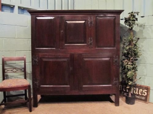 antique early georgian country oak press cupboard c1730 w6962215