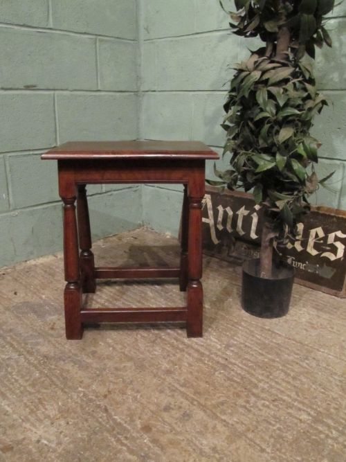 antique victorian country oak stool c1880 w706993