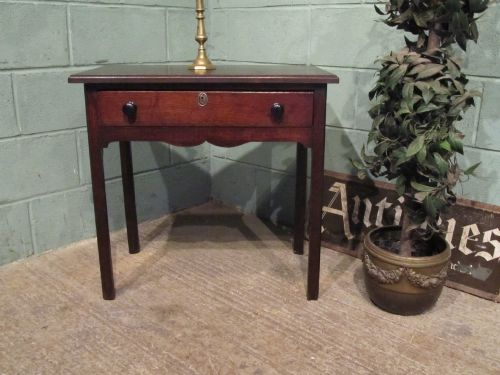 antique georgian country oak side table c1780