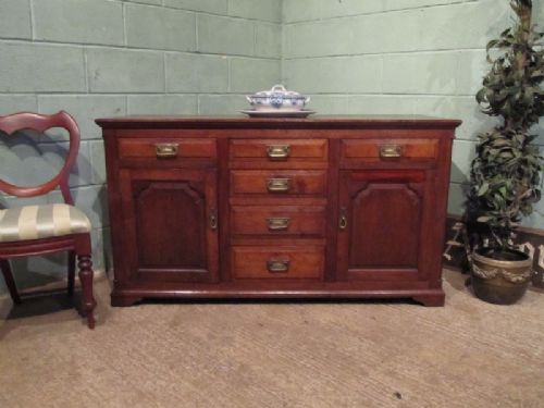 antique early victorian country oak dresser base sideboard c1850 w7217312