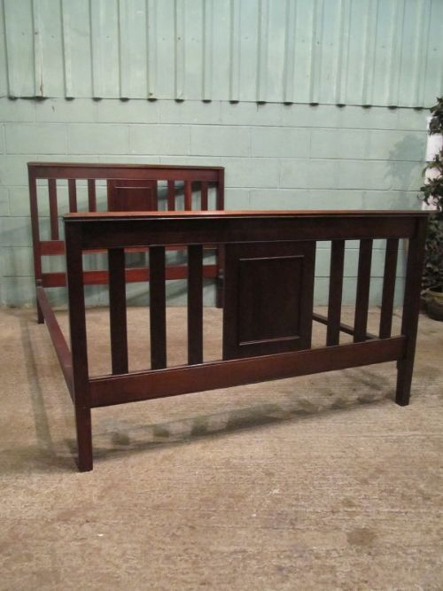 antique edwardian mahogany double bed c1900