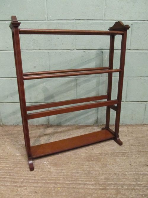 antique victorian oak double sided towel rail c1880