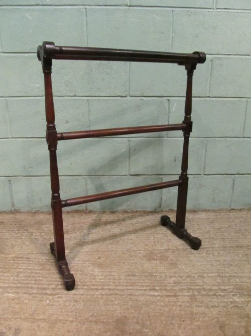 antique victorian mahogany towel rail c1880