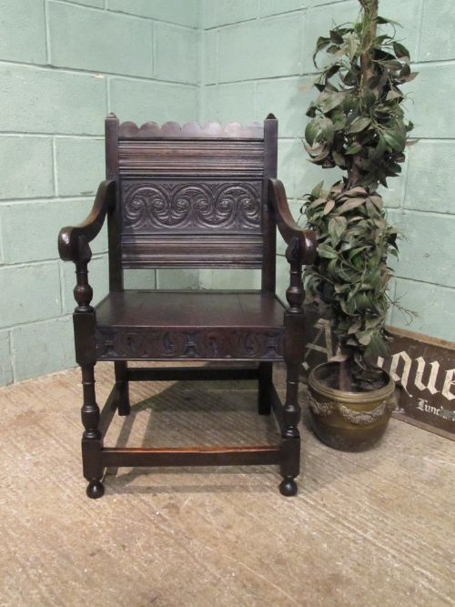 antique 18th century period oak lakeland armchair c1780