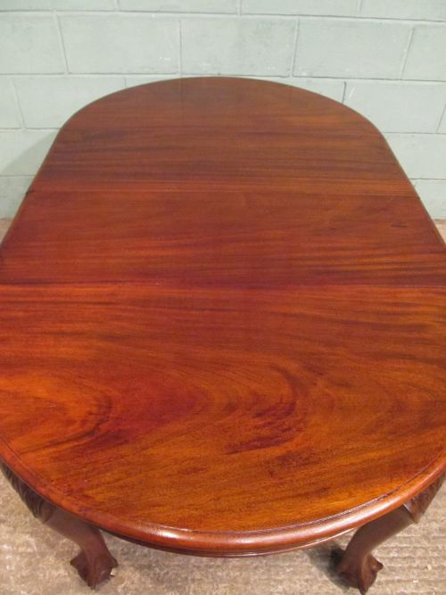 antique edwardian mahogany extending dining table seats 8 c1900