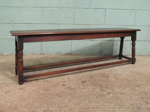 antique victorian joined oak bench c1860