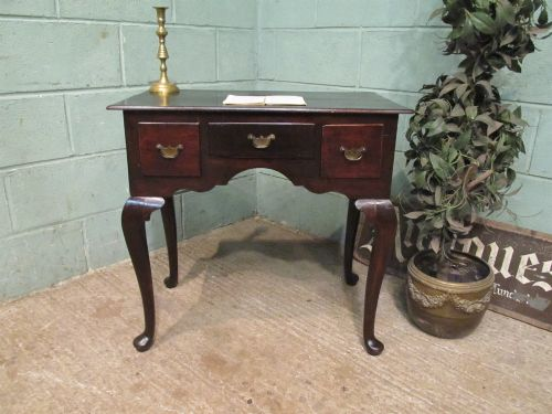antique small georgian oak lowboy c1780