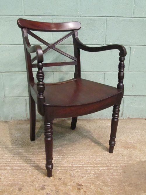 antique regency mahogany side or desk chair c1820