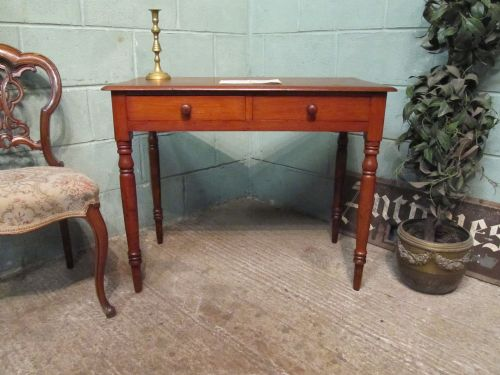 antique victorian mahogany side writing table c1880