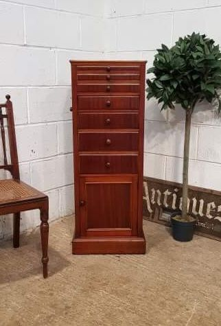 antique edwardian mahogany dentists chest of drawers c1900