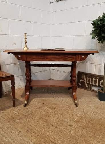 antique william 1v mahogany writing table c1830