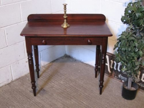 victorian mahogany side table desk c1880