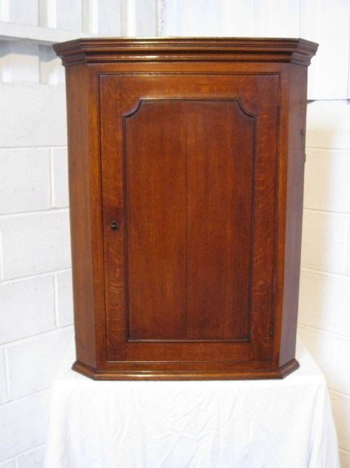 antique georgian country oak corner cabinet c1780