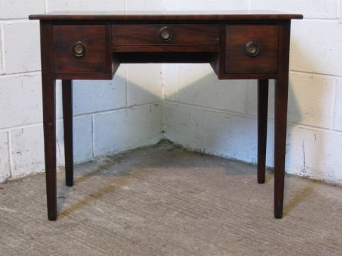 georgian mahogany low boy writing desk table