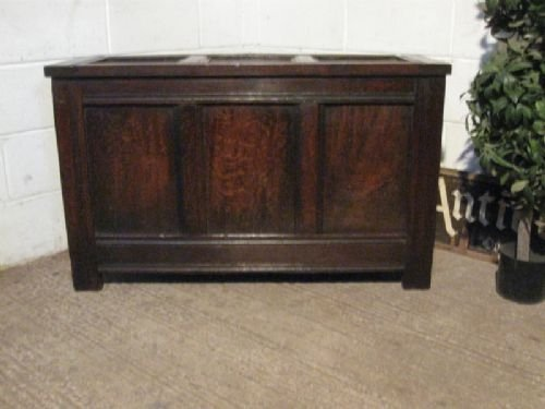 narrow antique georgian country oak coffer c1780
