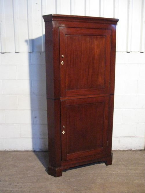 antique georgian mahogany full height corner cabinet c1780