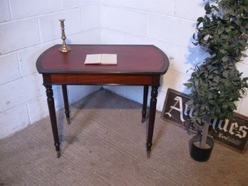 small antique victorian mahogany writing table desk c1880