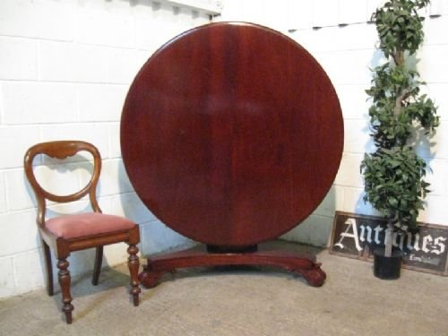 antique william 1v solid mahogany tilt top dining table c1820