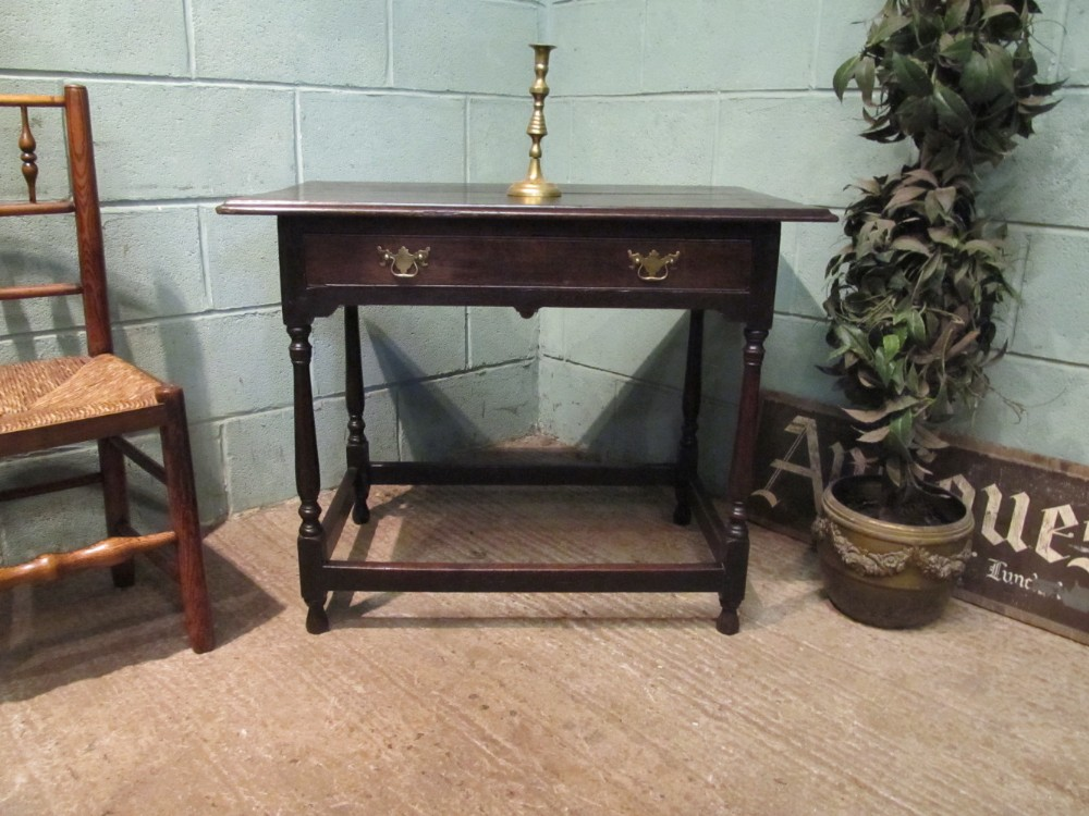 antique late 18th century georgian oak side table c1790