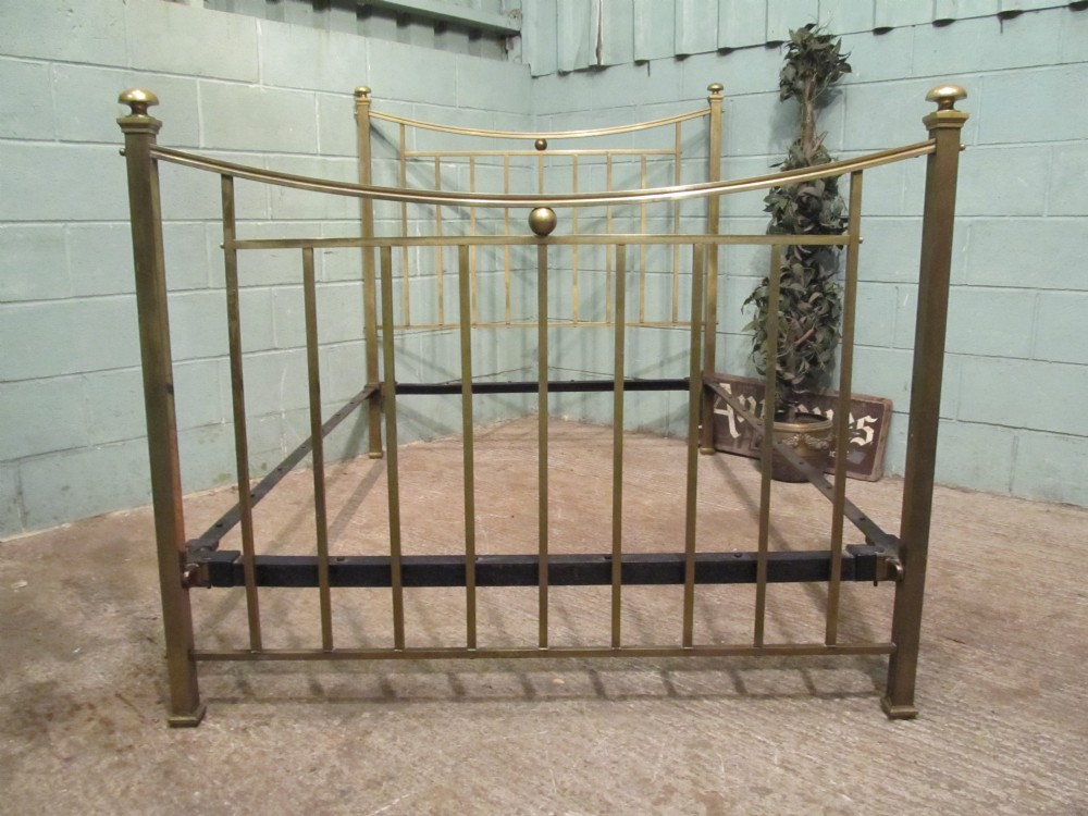 antique victorian brass double bed c1880