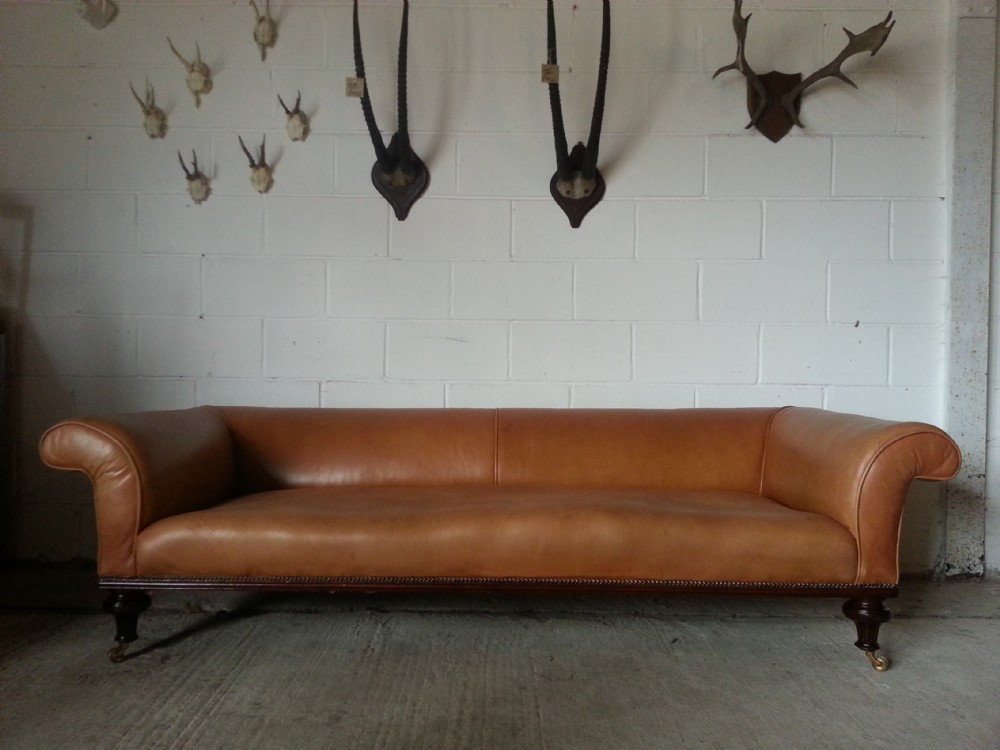 antique original victorian leather chesterfield 4 seater sofa c1860 by holland sons