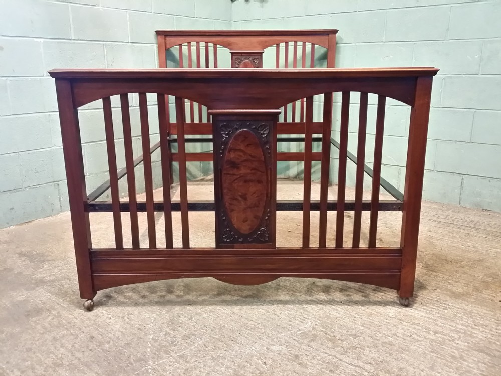 antique victorian walnut double bed c1880