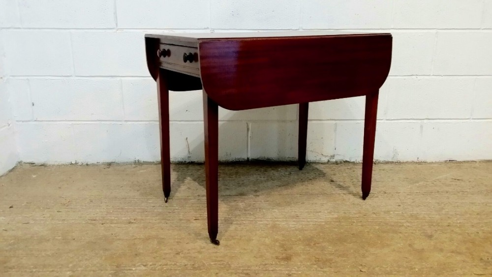 antique regency mahogany pembroke table c1820