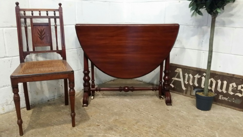 antique victorian mahogany oval sutherland gate leg table c1880