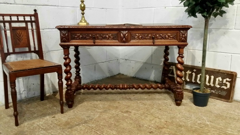 antique french oak writing table desk c1880