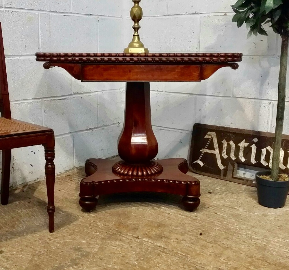 antique william 1v mahogany fold over table c1830